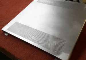 IP3x grille on guard on inspection table