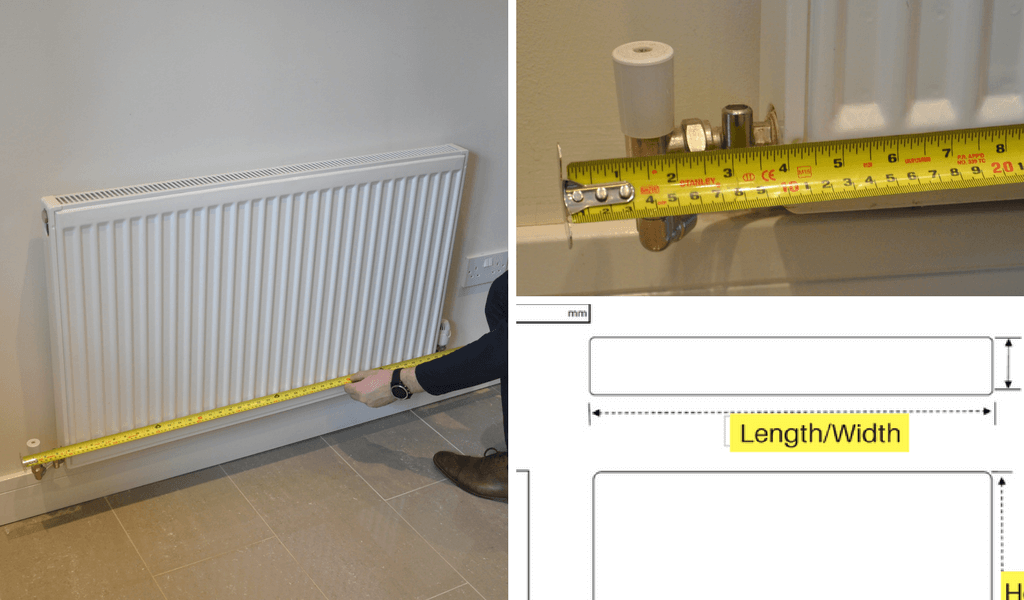 How to measure the radiator width for your radiator cover