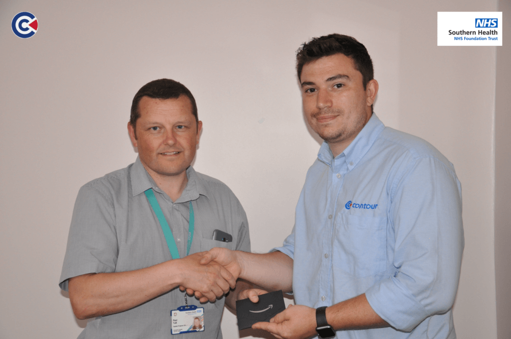 Paul Tutt, winner of Contour's bacteria in the box competition